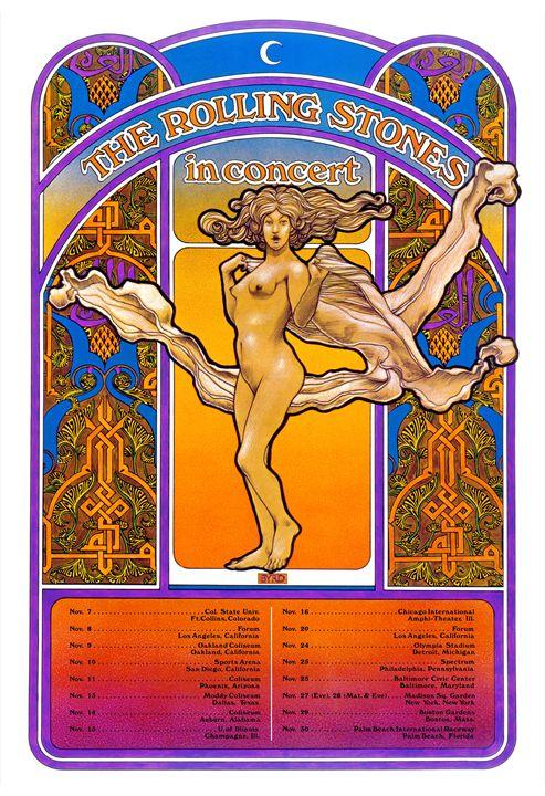 ROLLING STONES USA Tour 1969 - David Edward Byrd Posters