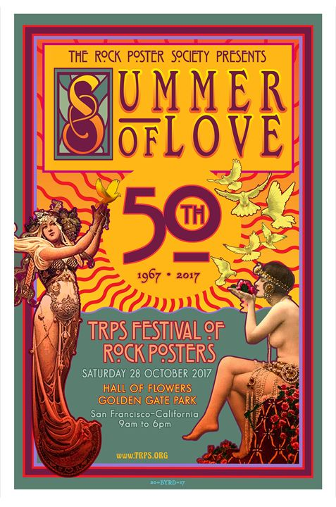 SUMMER of LOVE 50th 2017 - V1 - David Edward Byrd Posters