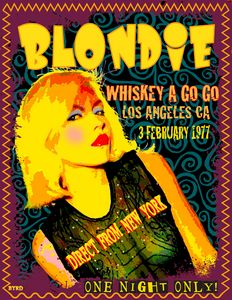 BLONDIE at The Whiskey 1977 - David Edward Byrd Posters