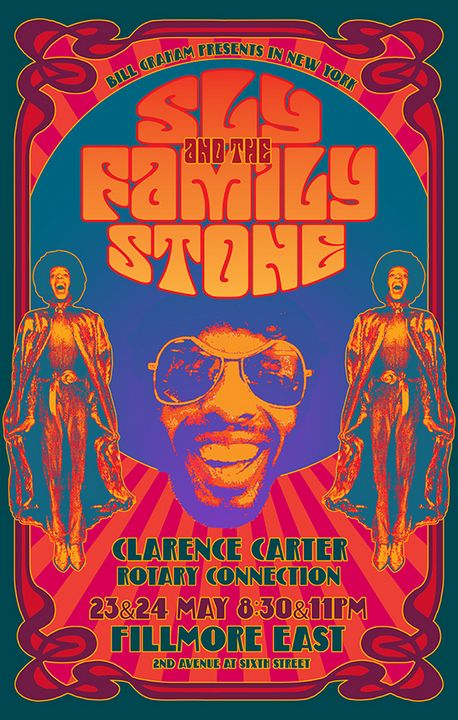 SLY & Family Stone - Fillmore East - David Edward Byrd Posters