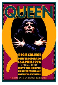 QUEEN Regis College Denver 1974