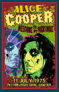 ALICE COOPER Pittsburgh 1975 - David Edward Byrd Posters