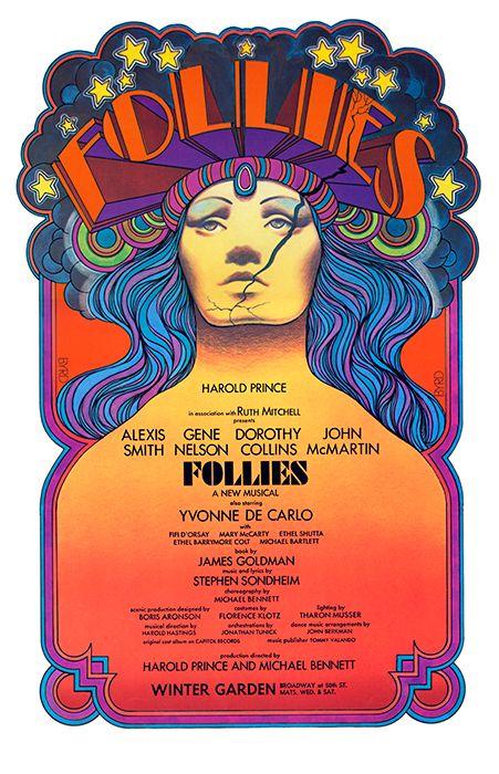 Stephen Sondheim's FOLLIES NYC 1971 - David Edward Byrd Posters