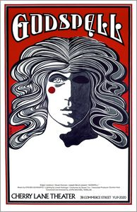 GODSPELL Musical Theatre Poster NYC - David Edward Byrd Posters
