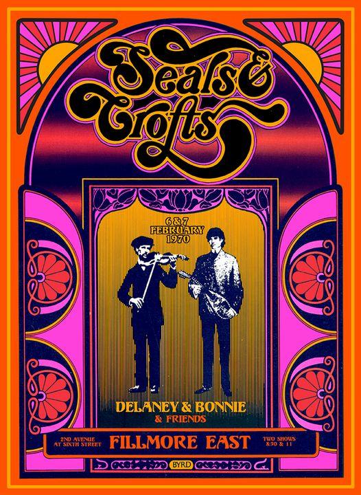 SEALS & CROFTS Fiimore East 1970 - David Edward Byrd Posters