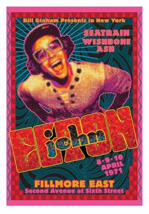 ELTON JOHN at the Fillmore East Apri