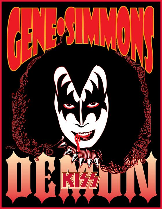 Portrait of Gene Simmons from 1978 S - David Edward Byrd Posters