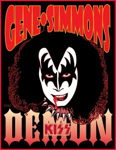 Portrait of Gene Simmons from 1978 S