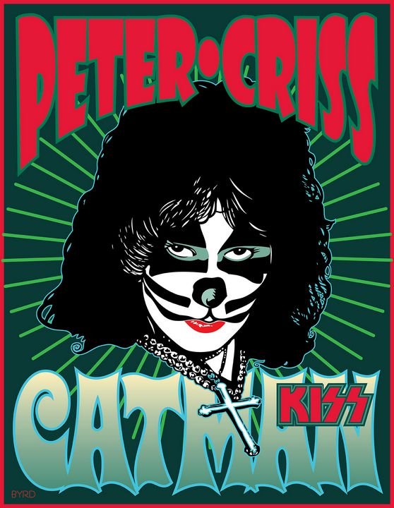 Portrait for Peter Criss Solo Album - David Edward Byrd Posters