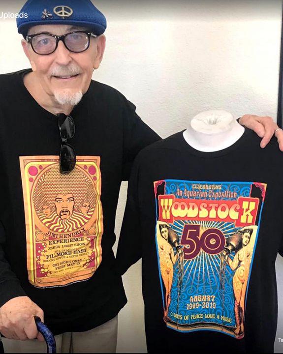 WOODSTOCK 50th Cotton TShirt - David Edward Byrd Posters