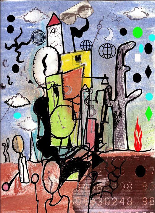 Watchful Balance Tower - EricBoi Art Vision
