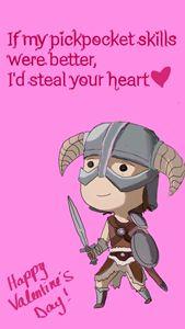 Skyrim Valentines Card