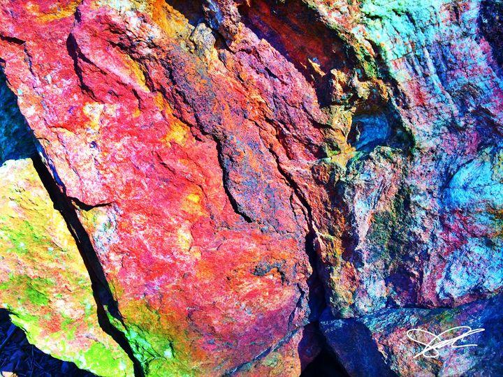 Rainbow Rock - Artistic Decor
