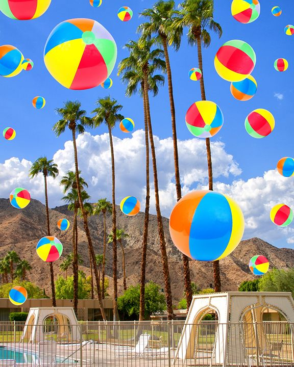 RAINING BEACHBALLS - WDPS Gallery