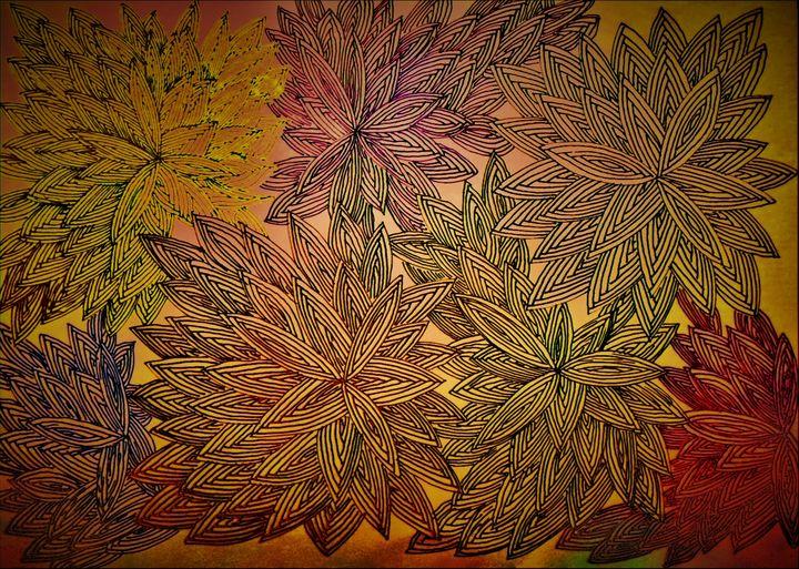 Paint and digi flowers - Pakokante