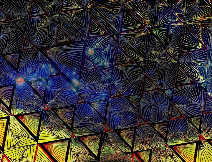 Triangles and shapes colored - Pakokante
