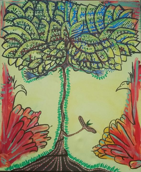 Mother tree of creation - Wildflower visuals