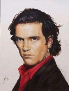 Retrato de Antonio Banderas