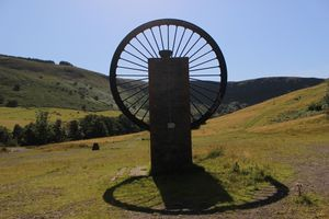 Mining Wheel, South Wales. Aberdare