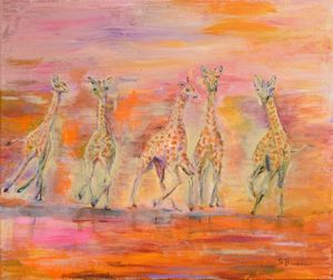 Baby Giraffe Playtime
