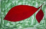 80x120cm red leaves modern