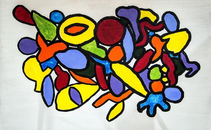 Fruit salad - Mel Masoni Abstract Paintings