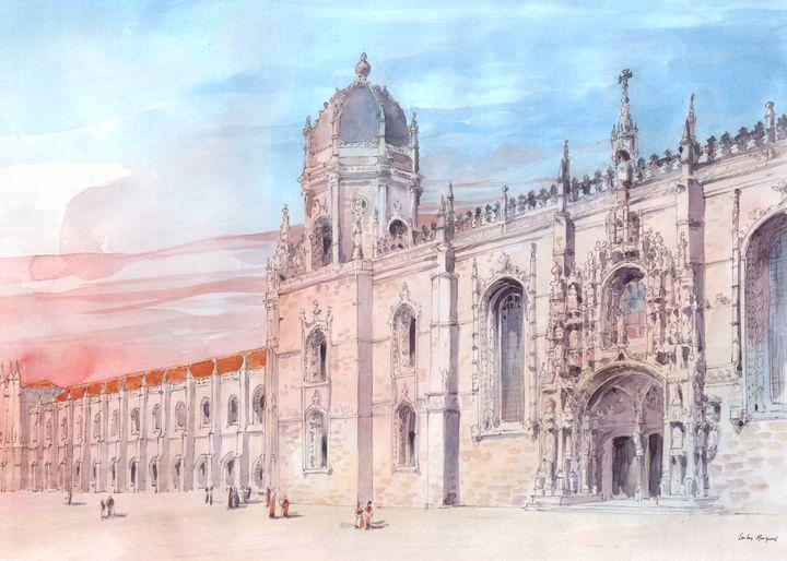 Jerónimos Monastery Watercolor - Tfantasy