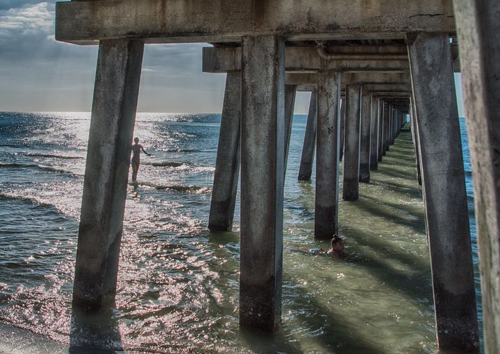 Under the Naples Pier - Judith Lee Folde Photography & Art