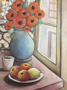 Poppies and apples
