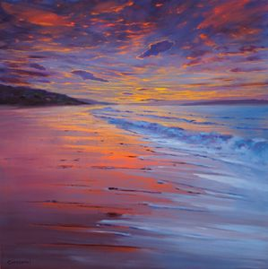 SUNSET SEA V. 73x73 cm