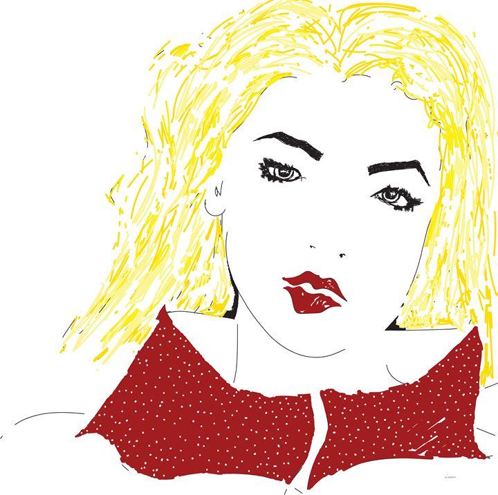 Red Lipstick and White Polka Dots - Darlene Watson
