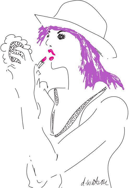 Fuchsia Lipstick - Darlene Watson