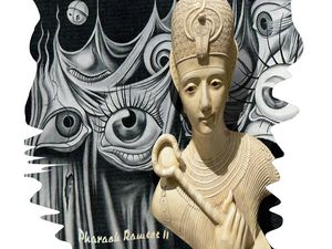 Pharaoh Ramses II, Dali, Hitchcock