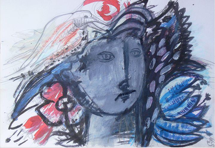 Fairy With Flowers And Bird - Vanyska Design