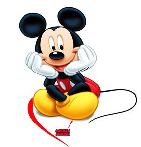 Sitting Black Mickey Mouse