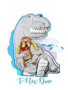 T-rex Dinosaur with Doggy