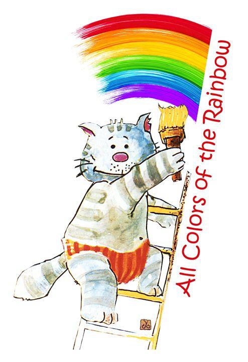 all colors of the rainbow vanyska design drawings illustration