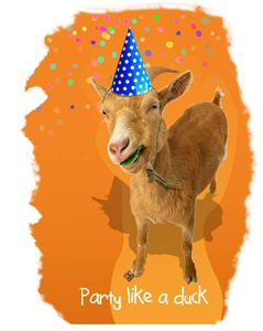 Party Like A Duck - Funny Goat
