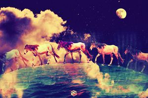 #Planet of horses by #Bizzartino