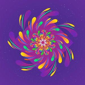 Violet Spiral Flower by #Bizzartino