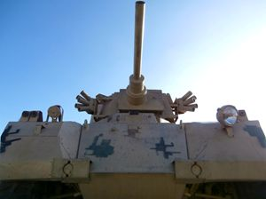 Perspective Military Tank