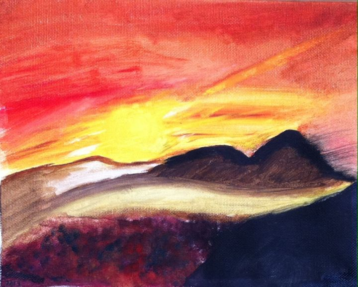Sunset Over Hills - Lindsay