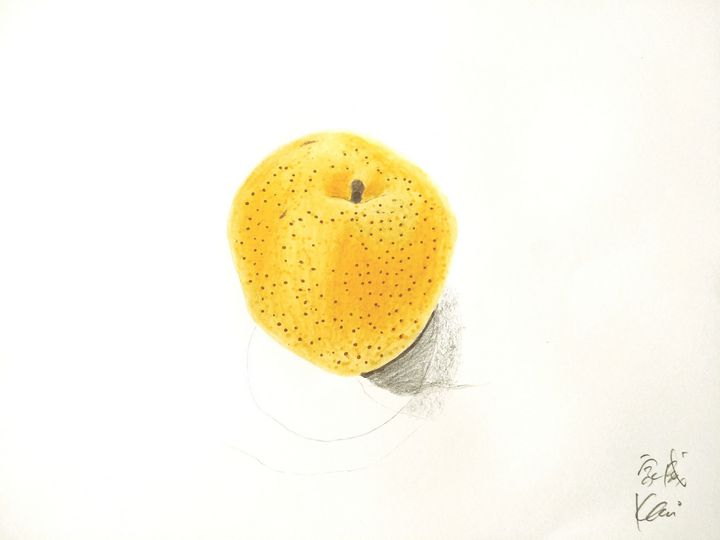 画梨 家威绘画 How to Draw Pear by Kavi Chu - 家威绘画 Kavi Art Class