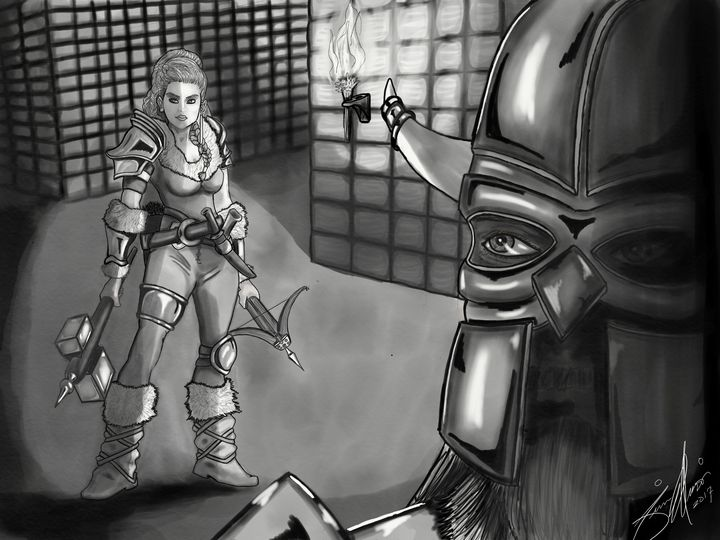 Dwarf Fighter Fantasy Art