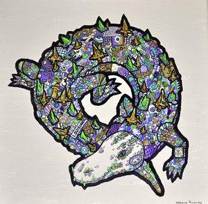 Mardi Gras Gator - Rushing Ink