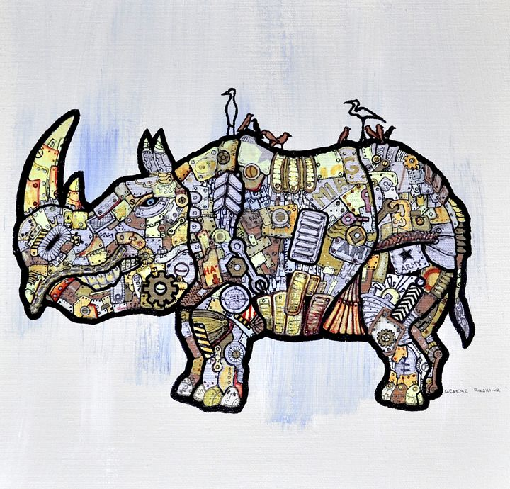 Armor Rhino - Rushing Ink