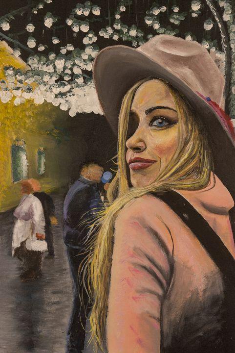 Girl under the hat - Scatts' Fine Art
