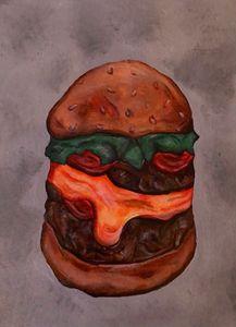 Hamburger painting on canvas