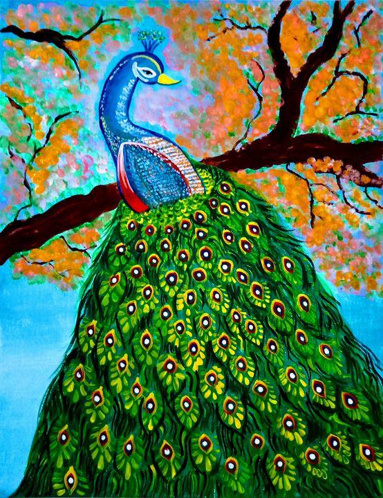 Beautiful Peacock - Sarvus Art Sphere
