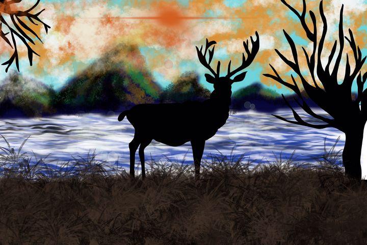 Beautiful Reindeer Art - AnuKumari Verma